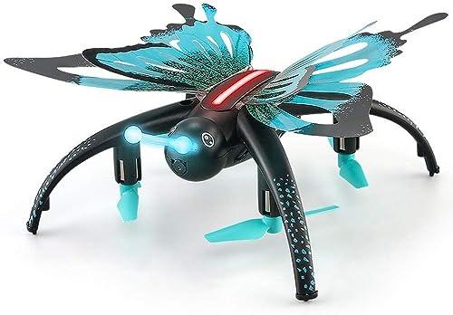 KAIFH Drone 30W Caméra Télécomhommede Simulateur d'avion Quadricoptère Papillon WiFi Drone Aérien Puzzle pour Enfants Mode sans Tête Retour à Un Bouton