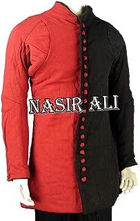 Nasir Ali Black & Red WMA Gambeson Arming Doublet Jacket Overcoat SCA LARP Reenactment