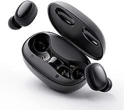 HAVIT I95 TWS Écouteurs Bluetooth 5.0, Écouteurs sans Fil pour Le Sport Résistants à La Sueur, 500 mAh avec Cas de Charge,Touch Control, pour Tous Les Téléphones, Tablettes, etc, Noir