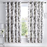 Dreams & Drapes Marinelli - Cortinas con Ojales (168 x 183 cm), Color Gris...