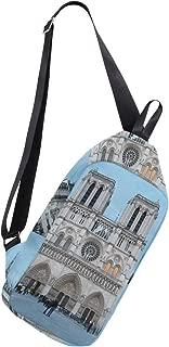 Crossbody Sling Backpack Notre Dame De Paris Great Chest Shoulder Bags Multipurpose for Men/Women