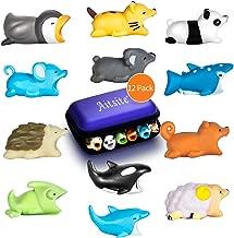 Aitsite Cable Bite Protector de Cable para iPhone Accessories (12-Paquete, erizo + panda + camaleón + gato + tiburón ballena + delfín + ballena asesina + pingüino + koala + ardilla + oveja + ratón)