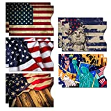 RFID Blocking Sleeves (10 RFID Blocking Sleeves, 5 Unique Designs) Identity Theft Protection Travel Case Set (American...