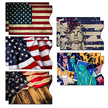 RFID Blocking Sleeves  10 RFID Blocking Sleeves 5 Unique Designs  Identity Theft Protection Travel Case Set  American Element   Side Load