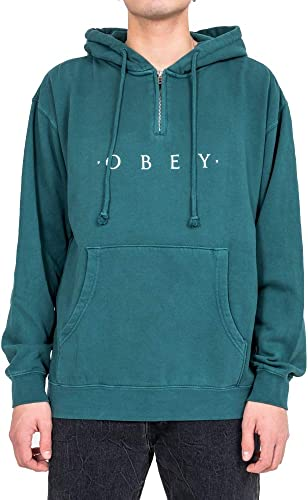 Obey Felpa hommes Novel 112751578 (XL - Pine)