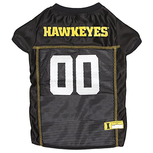 NCAA UNIVERSITY of IOWA HAWKEYES Dog Jersey, X-Large