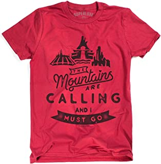 Superluxe Clothing Mens Womens Unisex The Mountains are Calling and I Must Go T-Shirt