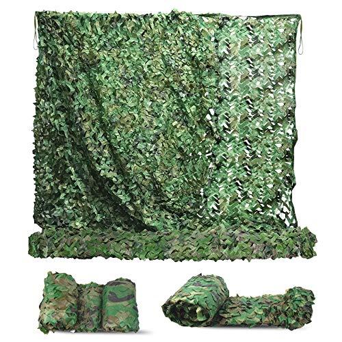 MIKKUPPA 3 x 3M Filet de Camouflage - Filet d'ombrage Camouflage Renforcé, 210D Bache Camouflage Militaire Durable - Parfaits pour Chasse, Camping, Ombrage, Jardin Décoration, Fête, Loisirs