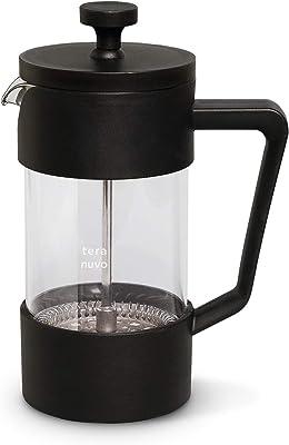 Teranuvo Glass French Press Coffee Maker - [350ML / 12 oz / 3 Cups][Heat Resistant Borosilicate Glass][4 Filter Screens]