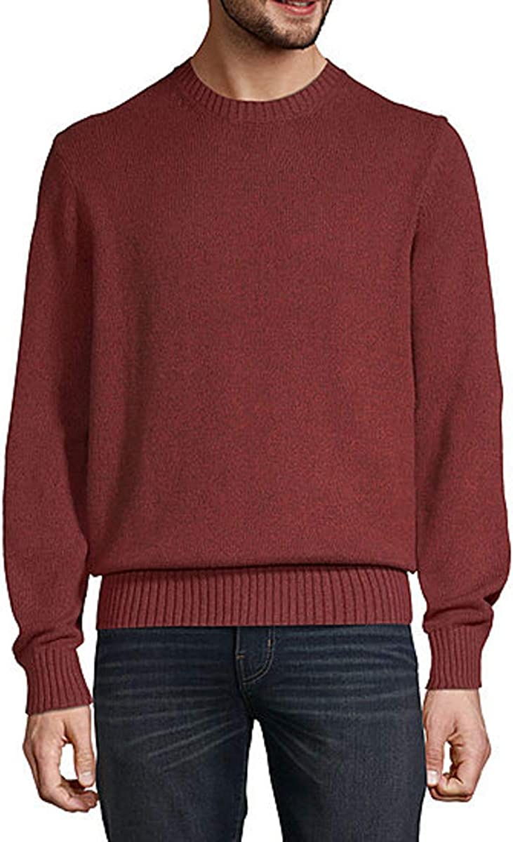 St. John's Bay Crew Neck Long Sleeve Pullover Sweater (Spice Marl, XX-Large)