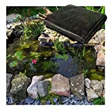 Yibcn Schwarze Teichfolie, 8 Mil robuste Teichfolien HDPE-Teichfolie für Wasserfall- und Wasserspiele, 8 x 8 m 9 x 9 m 10 x 10 m