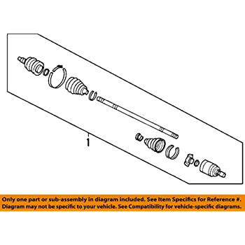 Genuine Hyundai 49500-1E150 CV Joint Assembly Right