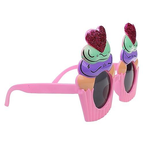 MagiDeal Lunettes de Soleil Paillettes Forme Cupcakes Masque Déguisements  Fantaisie pour Enfants Filles Garçons e1b723cc3578
