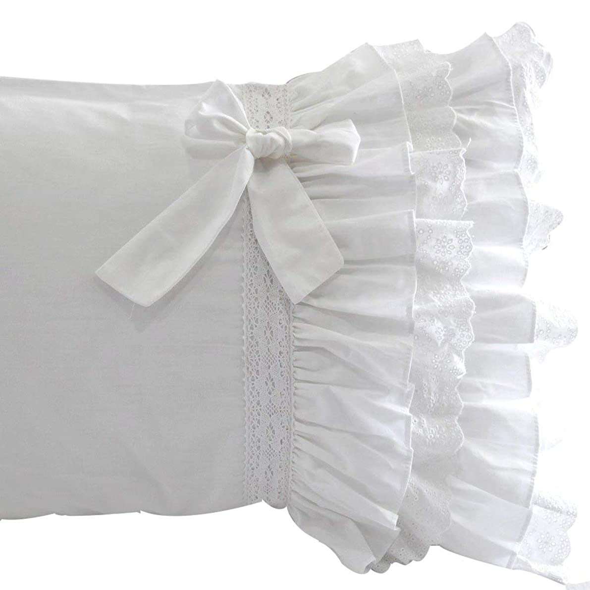 Queen's House Pillow Covers White Pillowcases Set of 2-Queen,E