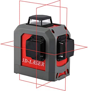 Red Beam 12 Line Laser Level with Tripod for Indoor Outdoor Construction Self Leveling Alignment Horizontal Vertical Measurement Tool