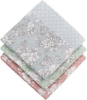 Houlife Ladies 100% 60S Cotton Handkerchiefs Womens Floral Print Hankies for Wedding Party 18x18