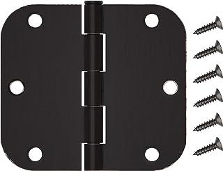 HOSOM 30 Packs Door Hinges Oil Rubbed Bronze 3.5, Interior Door Hinges with 5/8 Radius Corners