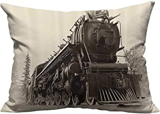 YouXianHome Sofa Waist Cushion Cover AnNorthren Express Train Canada Railways Photography Freight Machine Decorative for Kids Adults(Double-Sided Printing) 12x16 inch