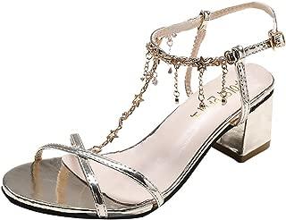 Women Sandals, LIM&Shop Summer Flat Sling Back Crystal Dance Shoe Casual Block Heel Criss Cross Slipper Soft Non-Slip