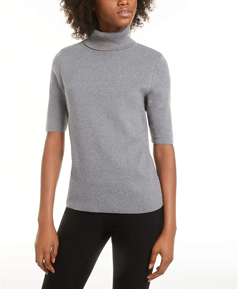 Alfani Womens Elbow Sleeve Pullover Turtleneck Sweater