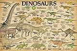 Studio B Smithsonian- Dinosaurs Info Chart Poster 36 x 24in