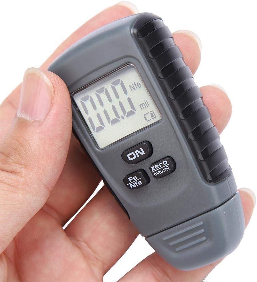 Solomi Medidor de Espesor de Pintura - Recubrimiento de Coches Tester Medidor de medición Paint Medidor de Espesor con Pantalla LCD Digital