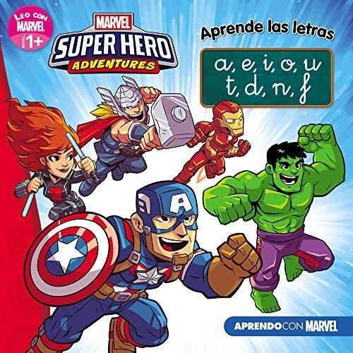 Los Vengadores. Aprende las letras. (Leo con Marvel - Nivel 1 Plus): a,e,i,o,u / t,d,n,f