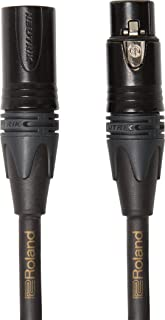 Roland 15-foot (4.5m) Neutrik XLR Microphone Cable, Gold series (RMC-G15)