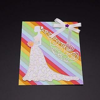 3nh 1Pc Bride Wedding Frame Metal Dies Cutting for Scrapbooking Dies Metal Easter DIY Gift Card Craft Dies