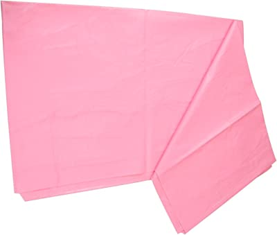 Good Luck plastic Baby Waterproof Sheet Double Bed Mattress Protection (7.5 x 6.5 ft, Pink)