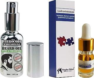 PheroCode Premium Beard Oil med feromon Androstenonum med pump 30 ml & ANDROSTENONUM 5 ml 100% feromon för män