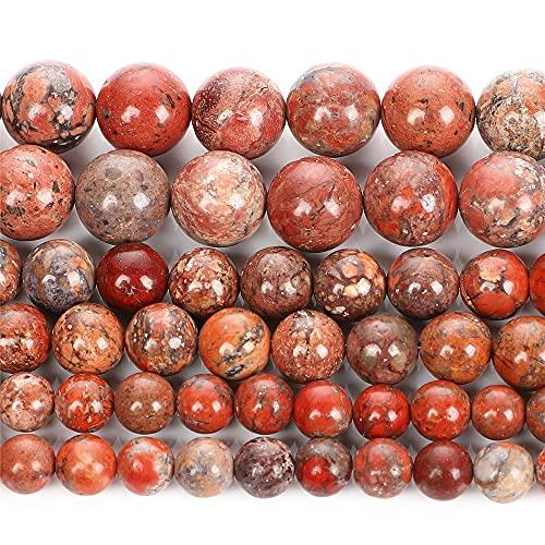 Rojo emperador Turquosas piedra natural redondo cuentas sueltas para hacer joyas DIY pulseras collar 4/6/8/10/12 mm H9268 8mm aproximadamente 48pcs