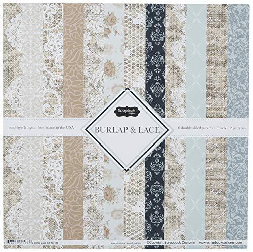 Scrapbook Customs Themed Paper Scrapbook Kit, Burlap & Lace