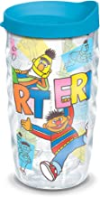 Tervis 1300731 Sesame Street - Bert & Ernie Insulated Tumbler with Wrap and Turquoise Lid, 10 oz Wavy - Tritan, Clear