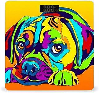 Báscula digital de peso para perros multicolor de alta precisión inteligente con pantalla LCD para baño