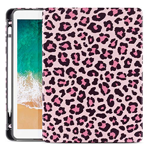 Cutebricase Universal iPad 10.5/10.2 Leopard Case for iPad 8th/7th Generation Case,iPad Air 3rd Generation,iPad Pro 10.5 Case with Pencil Holder, Soft TPU Leather Shockproof iPad Cover Auto Wake Sleep