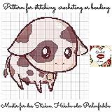 Crochet Love - Cute Calf: Pattern for stitching, crocheting or beading - Muster für das Sticken, Häkeln oder Perlenfädeln (English Edition)