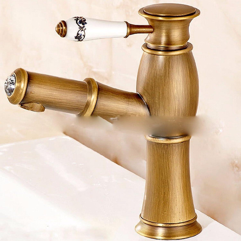 Fy.Zck Wasserhahn Zapfhahn Mischbatterie Armatur Im Europischen Stil Wasserhahn Mit Kupfer Waschbecken, Badezimmer Waschen Hahn, 1.