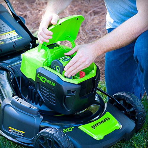 Greenworks G-MAX 40V 20-Inch Cordless 3-in-1 Lawn Mower with Smart Cut Technology, (1) 4Ah Battery and Charger included MO40L410