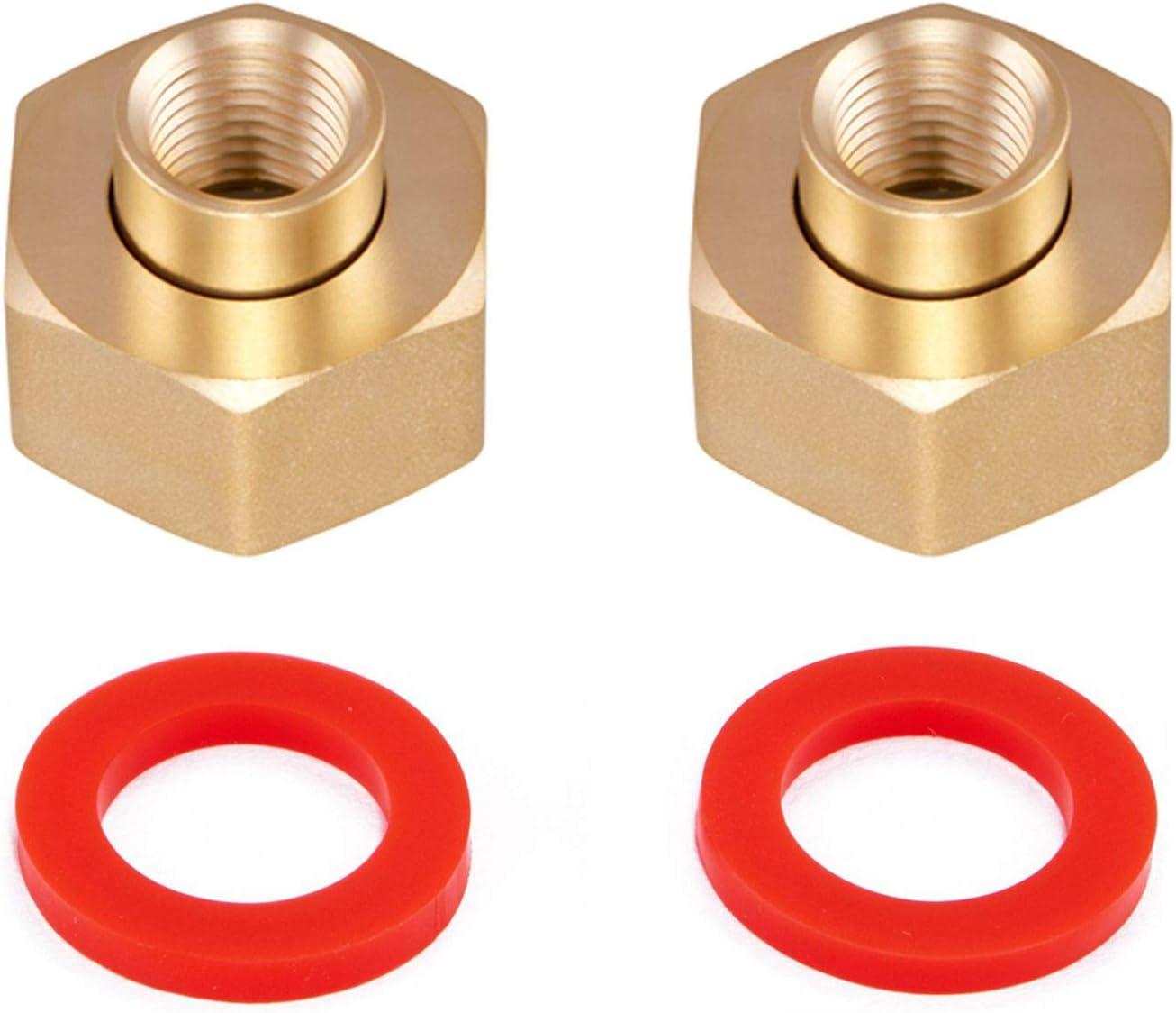 Minimprover 2PCS Lead Free Brass Hex Swivel 1/4