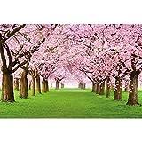 GREAT ART Mural De Pared ? Mural De Flor De Cerezo ?Flores Primavera Jardín Planta Bosque Parque Naturaleza para Florecer Árbol Avenida Foto Tapiz Y Decoración 210 x 140 cm