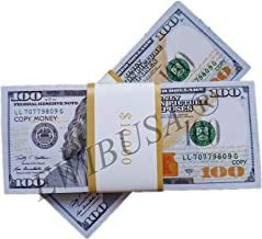 EWIBUSA Prop Money Imitate Currency ,HD Quality Copy Money $100 Total $20,000 Dollar Wedding/Party/Scenario Supplies,Fully Meet The Video/Movie/Tv/Music Video Production