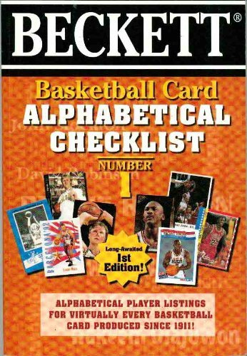 Basketball Card Alphabetical Checklist No. 1 (Basketball Card Alphabetical Checklist)