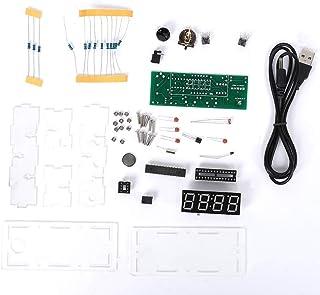 Placa de circuito de reloj Jershal - Mini piezas rojas de bricolaje Módulo MCU Kit de placa de circuito de reloj electróni...
