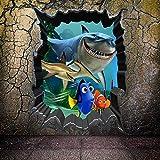 Haifisch Findet Nemo Wandaufkleber Kinder Schlafzimmer