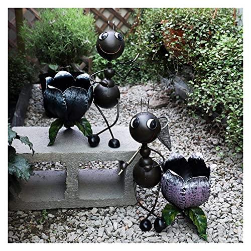 WQQLQX Statue Garten Skulptur Statue Outdoor 2 Stück/Satz von Schmiedeeisen Ameise Tierfiguren Paar Garten Dekoration Zubehör Outdoor Kunst Ornamente Skulpturen