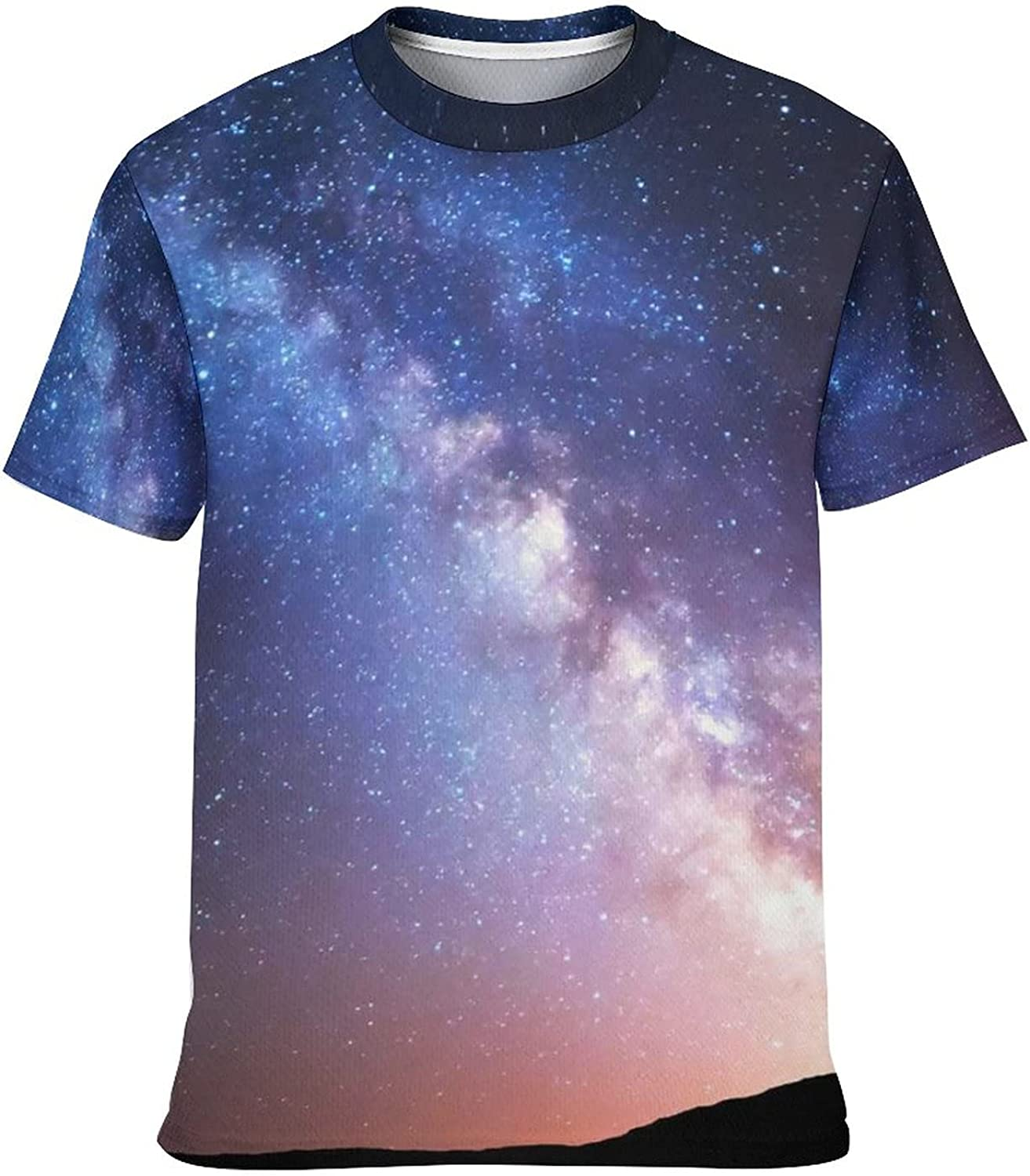 hsimnsi Short Sleeve Looking Up at The Stars T-Shirts for Kids,