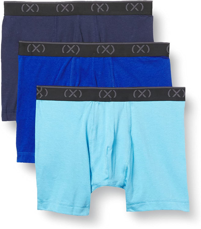 2(X)IST mens Extreme Cotton Stretch 3 Pack Boxer Brief 6'' Inseam