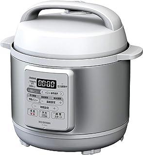 アイリスオーヤマ 電気圧力鍋 3.0L 12種類自動メニュー搭載 予約調理対応 ホワイト PC-EMA3-W...
