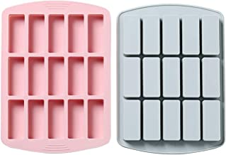 Aurora NB Silicone Chocolate Candy Bar Molds for Baking, Rectange Silicone Baking Jello Buttter Gummy Soap Cocktail Ice Cu...